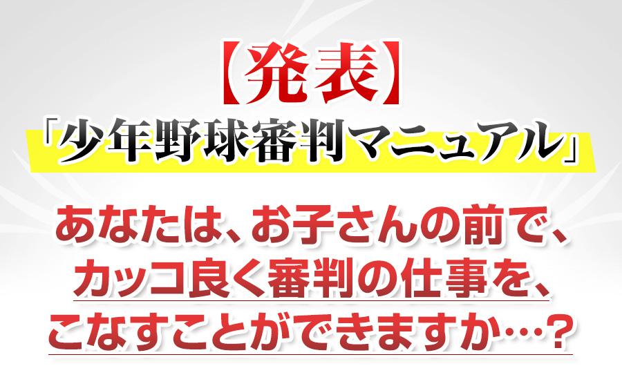 野球審判マニュアル