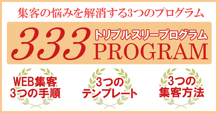【333 PROGRAM】トリプルスリープログラム
