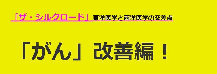 ザ・シルクロード「がん」改善編!